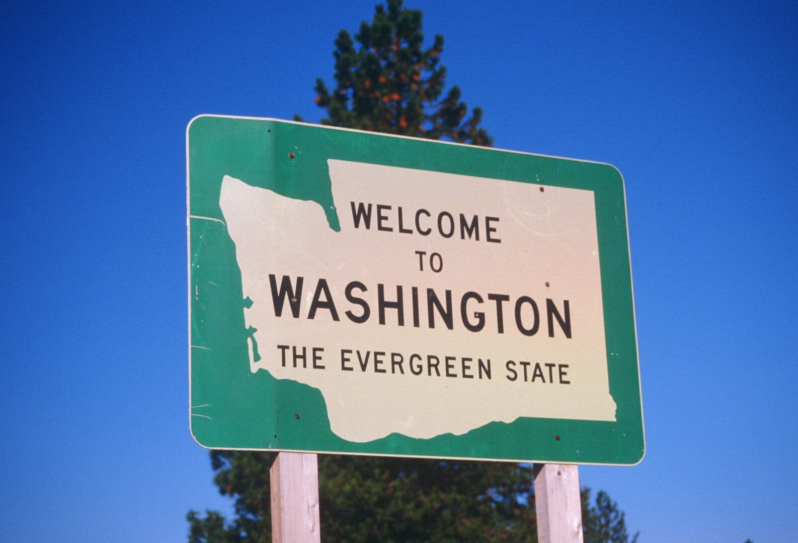 Welcome To Washington Street Sign
