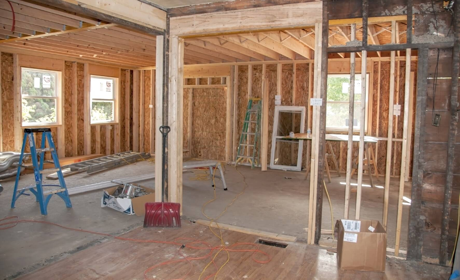 House Interior Under Construction